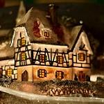 Petite maison au marché de Noël