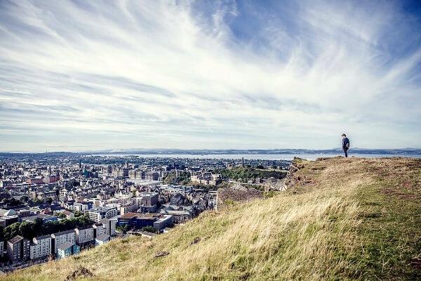 Vue sur Edimbourg