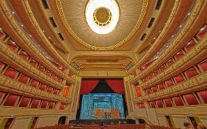 Intérieur de l'opéra de Vienne