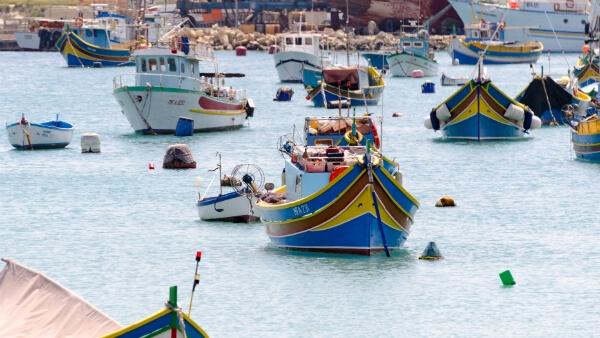 Bateaux de pêche à Marsaxlokk