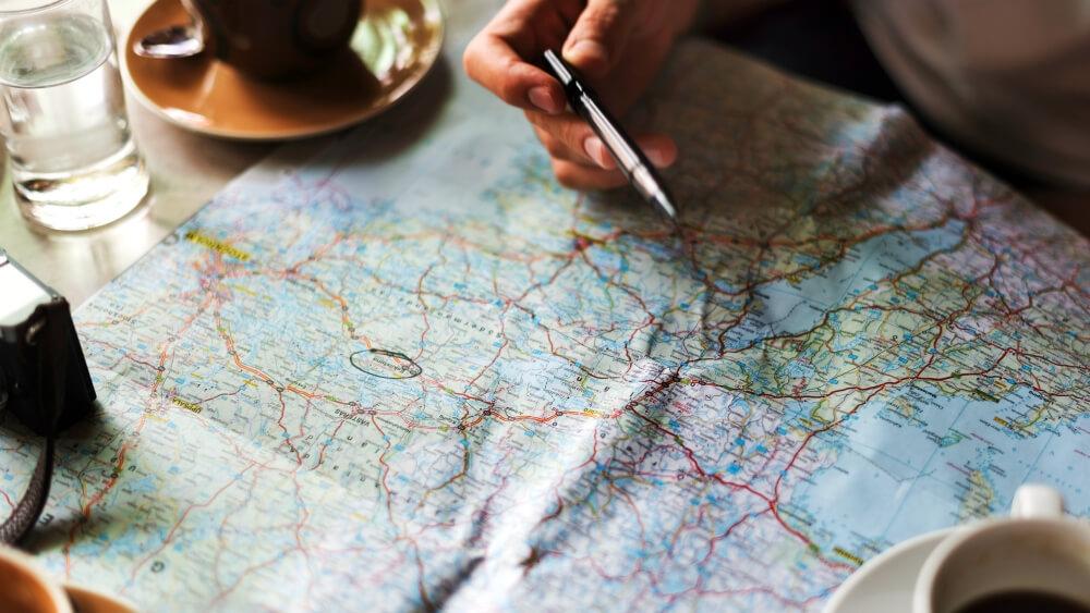Choisir sa destination sur une carte