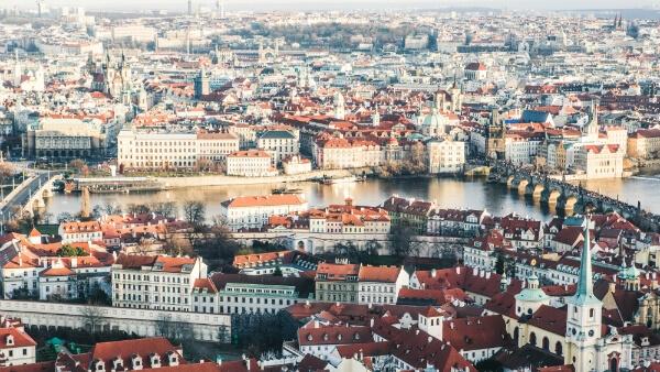 Prague vue du dessus