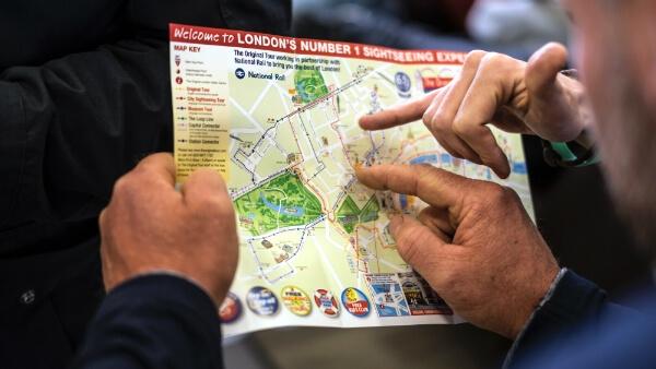 Carte pour un voyage pédagogique à Londres