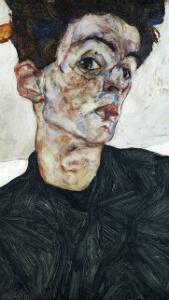 Autoportrait, 1912, Egon Schiele