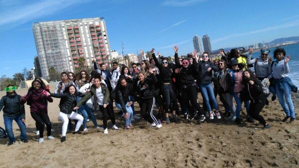 Collège de la Boétie sur la plage Barceloneta