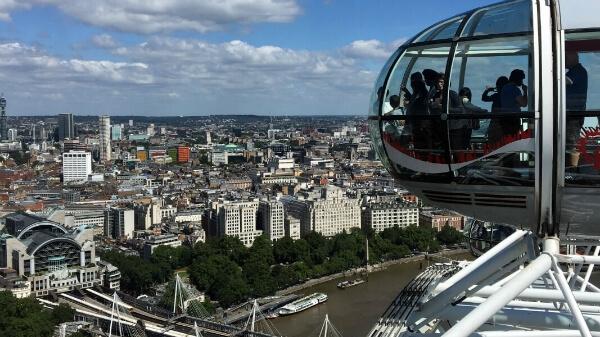 Vue de London Eye