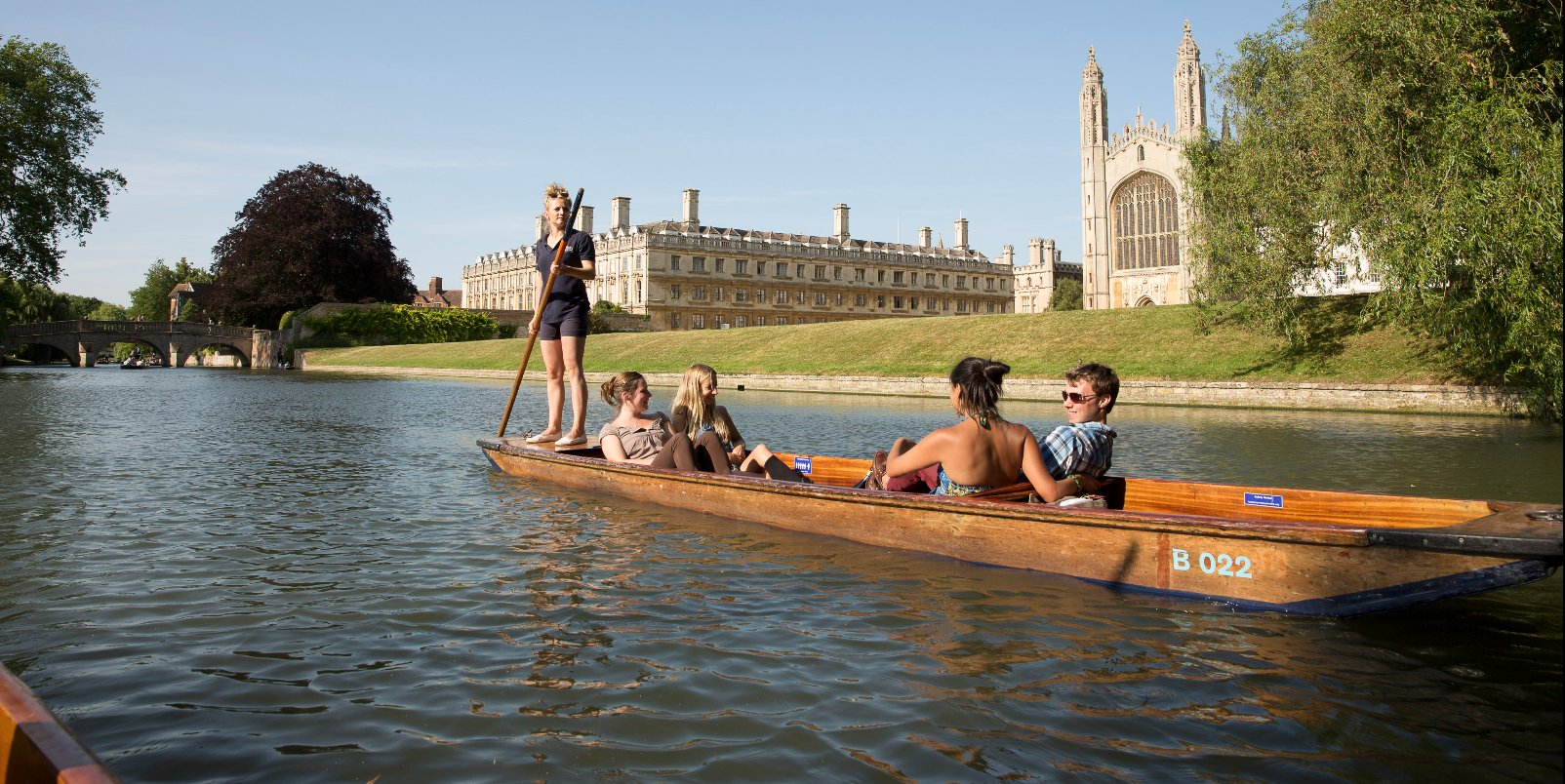 Punting past King's College
