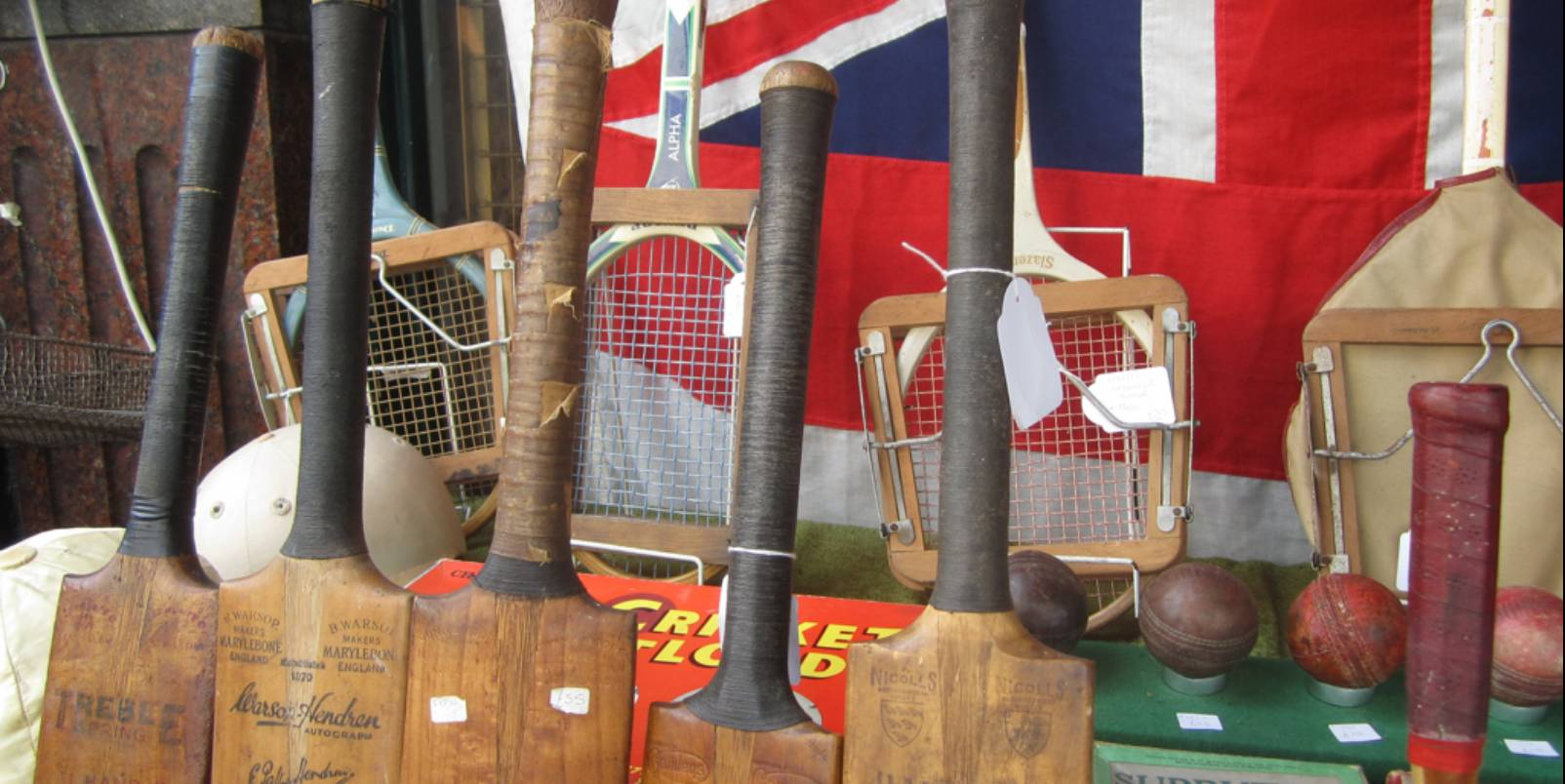 Vintage sports on Portobello Road