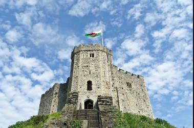Cardiff, capital of Wales -
